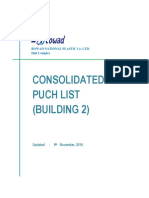 Consolidated Punch List for Bldg. 2