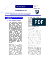 Guidelines on Antenatal Care (Part II) 2008