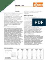 Oil Data Sheet