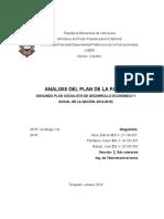Analisis Del Plan de La Patria