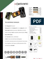 Optio W90 especificaciones