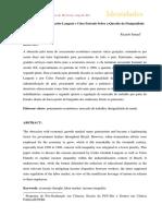 Ismael - As Contribuições de Carlos Langoni e Celso Furtado Sobre a Questão Da Desigualdade