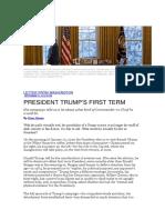 Evan Osnos - President Trump's First Term
