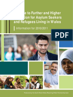 Guide to Further and Higher Education for Asylum Seekers and Refugees Living in Wales 2011-2011