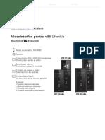 VPE 1S0 Fisa Montaj Videointerfon Electra Lux 1 Familie