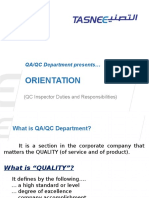 Topic 1 - QA-QC Orientation