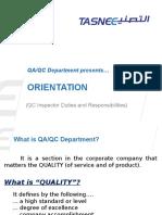 Topic 1 - QA-QC Orientation
