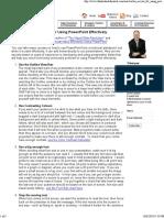 Ten Secrets for Using PowerPoint Effectively