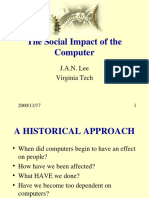 Social impact of computers