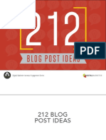 212 Blog Post Ideas 1