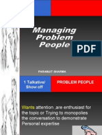 Managing  Problem People
