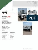 Dpx Descriptive Mitsubishi Canter Flatbed Double Cab 4x4