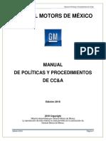 Manual de Políticas y Procedimientos de CC&a 2016