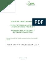 Convocatoria Servicios Académicos de Pregrado. CURSO 2015 20162