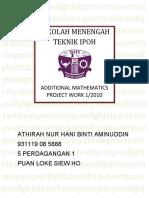 ADD MATHS PROJECT WORK 1/2010