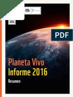 Informe  Planeta Vivo 2016