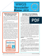 WMGS Winter 2016-17 Newsletter
