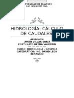 Trabajo Hidrologia-ta3 - Caudales