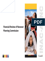 Financial Review of Nunavut Planning Commission