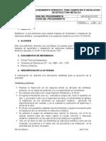 PROCEDIMIENTO DE SUMINISTRO E INSTALACION DE ESTRUCTURA METALICA.docx
