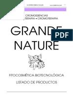 Grande Nature Cromoesencias Aromaterapia Cromoterapia