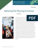 Schor Debating the Sharing Economy