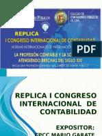Replica i Congreso Internacional de Contabilidad