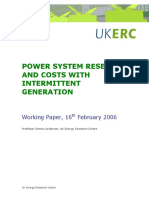6. Power System Reserves and Costs With Intermittent Generation