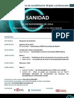 Programa Sesión Formativa CERMI Madrid-Ayto. Madrid SANIDAD