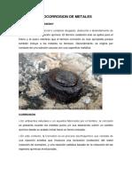 Biocorrosion de Metales