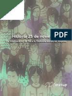 Historia 25 de Noviembre - Día Internacional de No a la Violencia contra las Mujeres