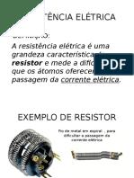 RESISTÊNCIA ELETRICA