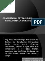 Conciliación Extrajudicial Especializada en Familia