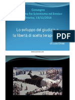 "Intervento Luca Chiesi al Convegno ""Medicina fra Scientismo ed Eresia"" - Treviso 13 Novembre 2016"