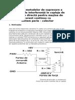 Testarea metodelor de supresare a efectelor de interferenţă în cuplaje de conducţie directă pentru maşina de curent continuu cu sistem perie colector