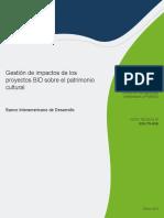 Gestion de Impactos de Los Proyectos BID Sobre El Patrimonio Cultural (1)