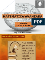 Clase 18 MAA Matematica avanzada