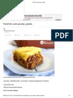 Pastel de Carne Picada y Patata
