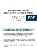 Nanotechnology and Its Application in Renewable Energy