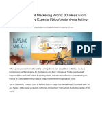 Resources - Content Marketing World - 30 Ideas From Industry Experts