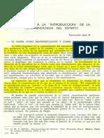 Comentario a La Introducción de La Fenomenología Del Espíritu.