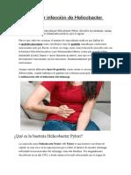 Gastritis Por Infección de Helicobacter Pylori