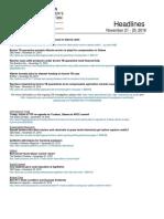 CCA Headlines November 21 - 25 2016