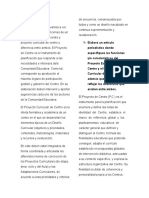 Proyecto Educativo de Centro y Curricular de Centro