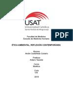 Resumen Etica Ambiental Reflexion Contemporanea