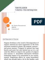 Organic Fertilizer Manufacturing Techniques