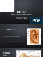 Ear - Anatomy & Physiology & Common Disorders