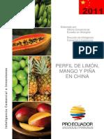 Proecu Ppm2011 Limón Mango y Piña China