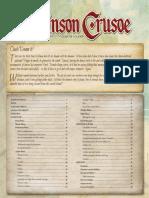 Robinson Crusoe Rulebook