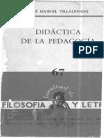 67 J M Villalpando Didactica de La Pedagogia 1965
